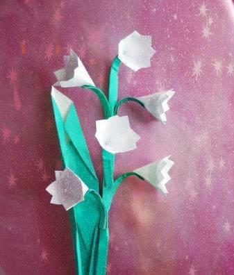 Ландыш оригами