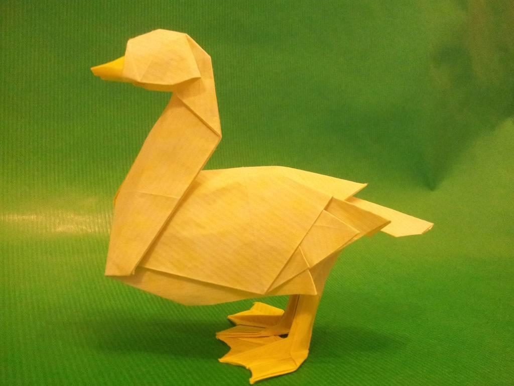 Уточка оригами